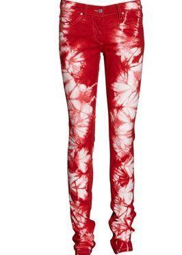 Amazing Isabel Marant Itzel Red Tie Dye Jeans Size 38 8 10 BNWT
