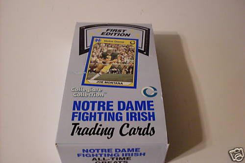 1990 Notre Dame Fighting Irish Trading Cards Box