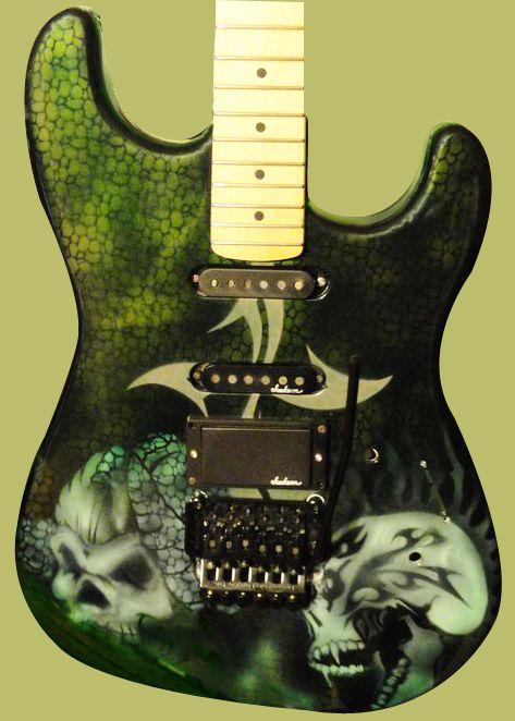 Jackson Guitar Body USA Custom Skull Art Work