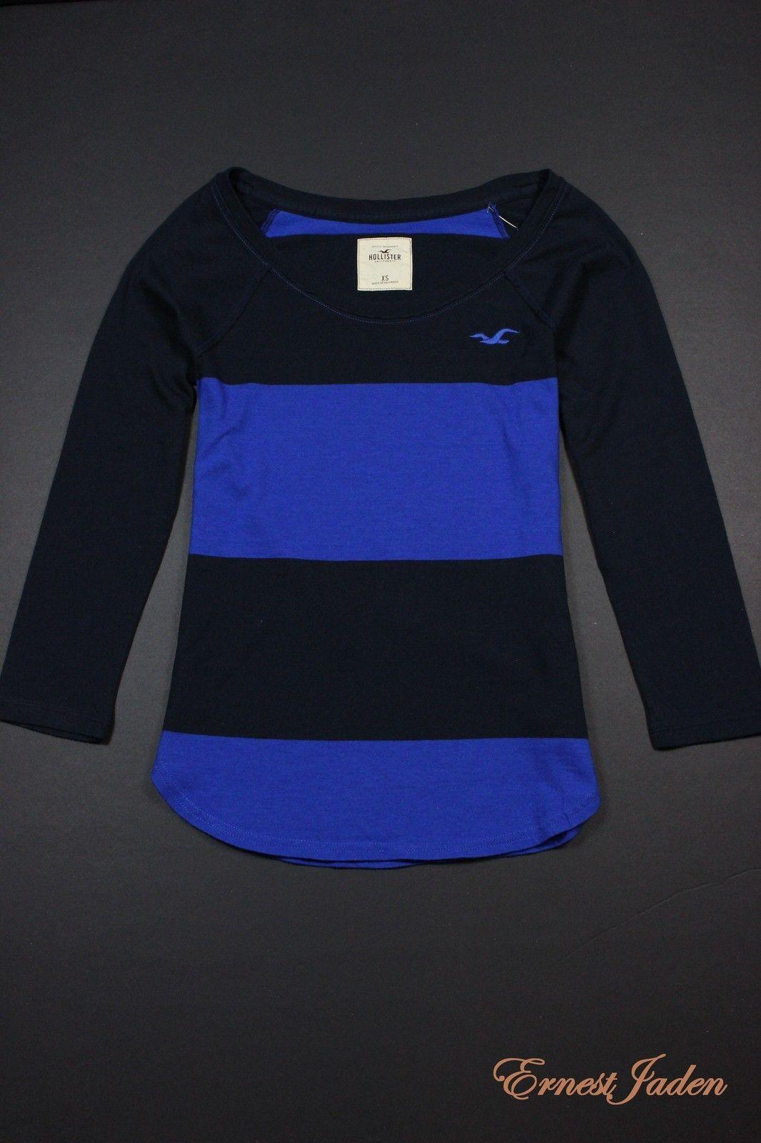 NEW Hollister by Abercrombie womens Jack Creek Stripe Tee T Shirt NWT