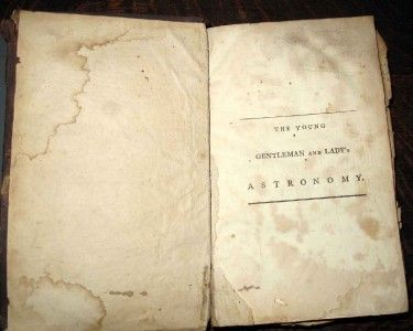RARE Book 1792 The Young Gentleman and Ladys Astronomy James Ferguson