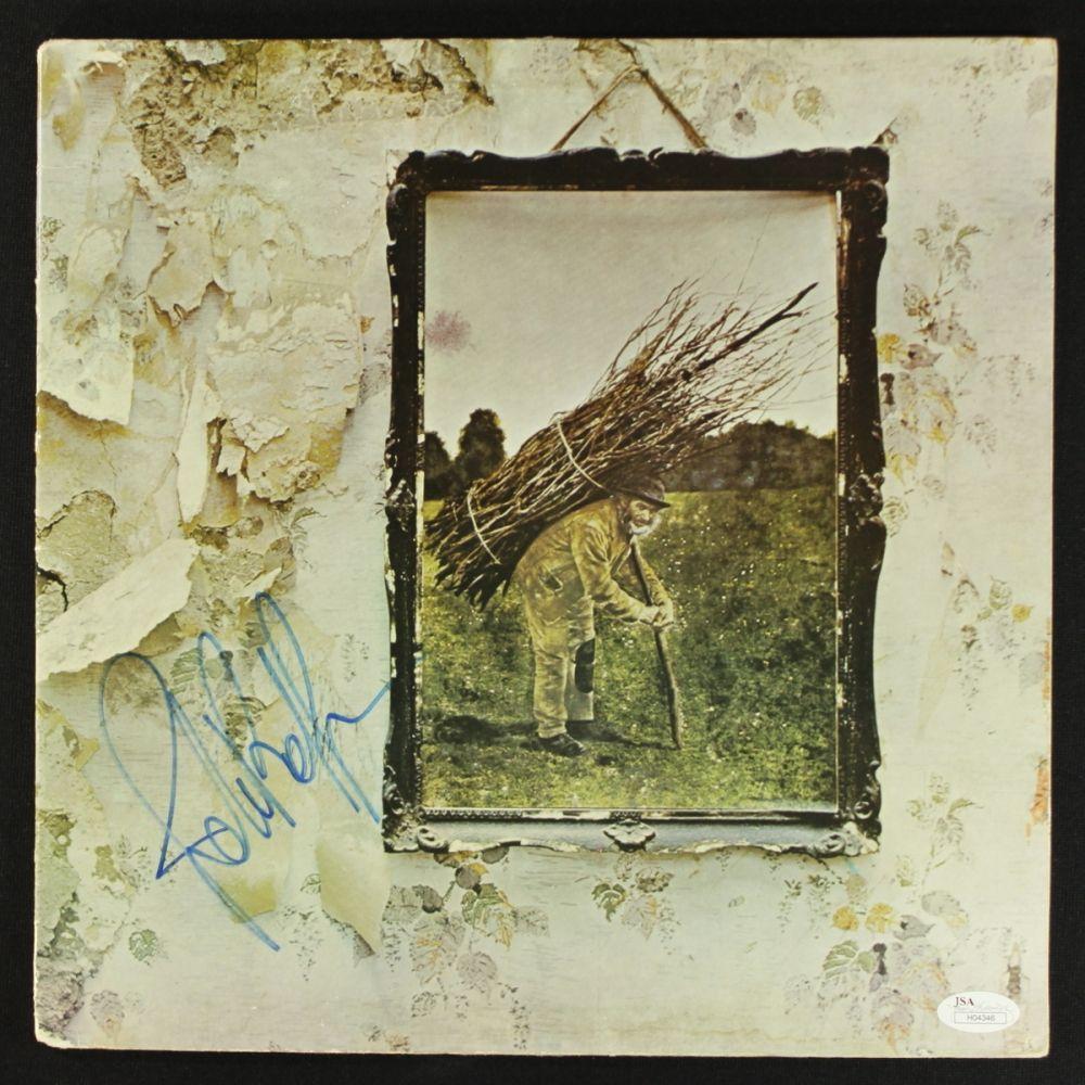 John Paul Jones Signed LED Zeppelin IV Zoso Album Cover JSA COA