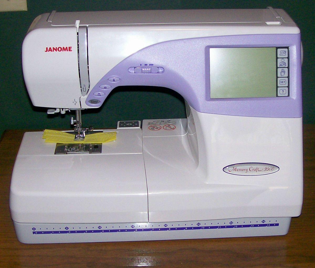 janome sewing embroidery machine 9500 memory craft all