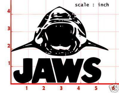 Jaws Movie Decal Sticker Car Window Door Laptop
