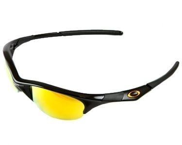 Oakley Half Jacket Sunglasses   Jet Black/Fire Iridium New in Box