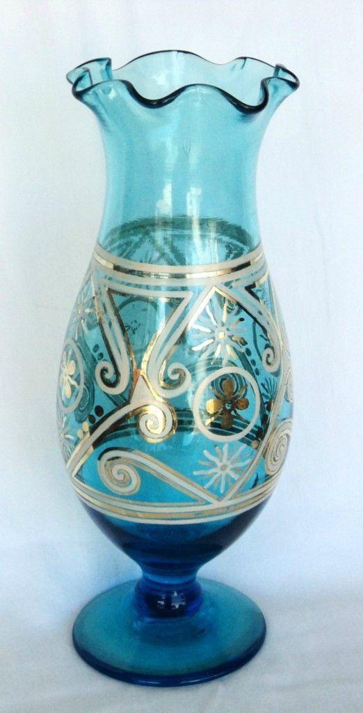 Vintage Hand Blown Vase Art Glass Vase Handcrafted Vase