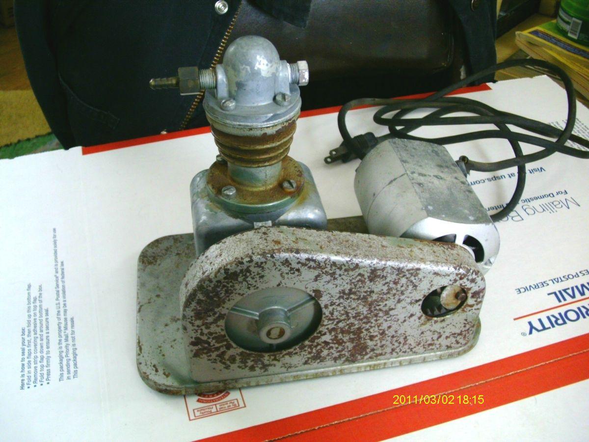 Electric Airbrush Compressor KJ Miller Belt Driven Tested Works