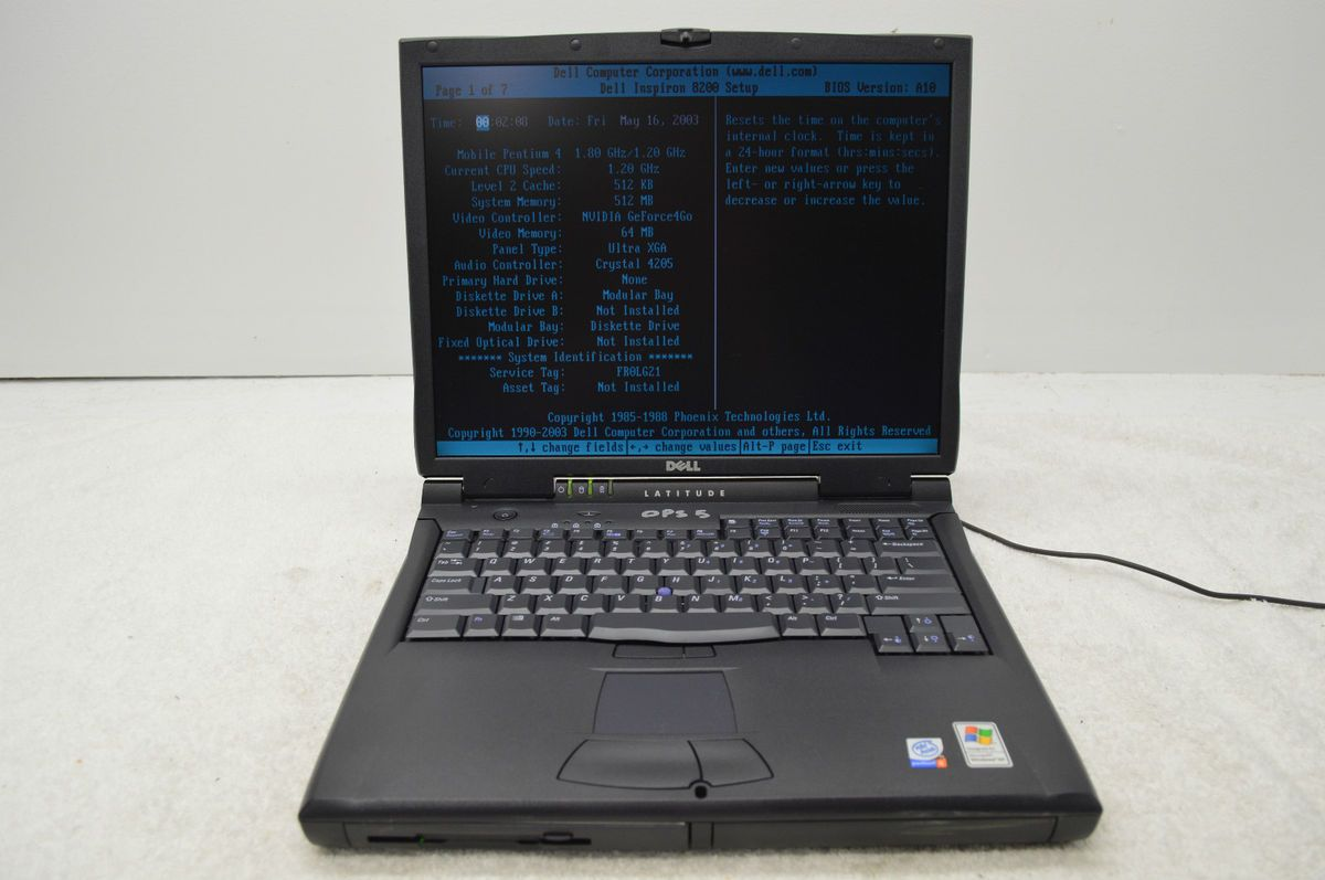 Dell Latitude C840 1 20GHz Pentium 4 512MB Laptop Notebook Boots to