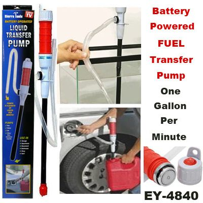 Battery Operated Liquid Fuel Transfer Pump Pumps Gas Water Oil Etc
