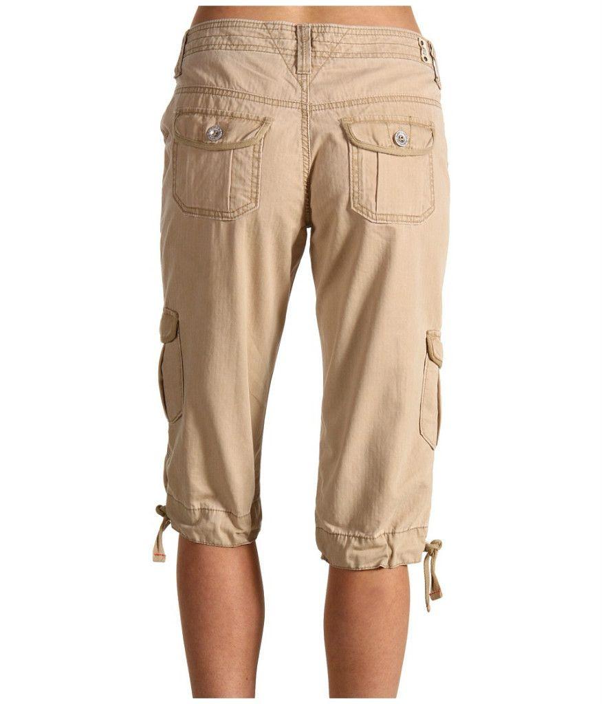 Levis Jeans Plus Size Chico Khaki Capitola Cargo Capri Pants Fits