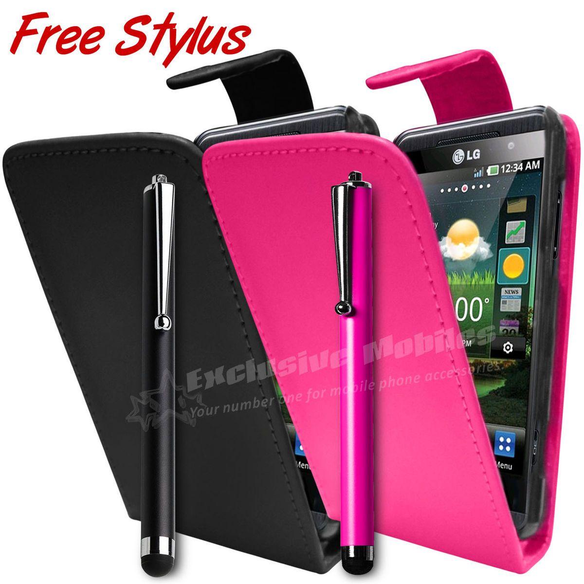 Flip Case Cover Pouch Free Stylus Pen Fits LG Mobile Phones