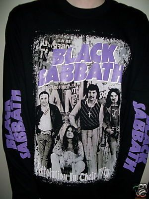 Black Sabbath 1970s Retro Long Sleeve T Shirt Sze L New