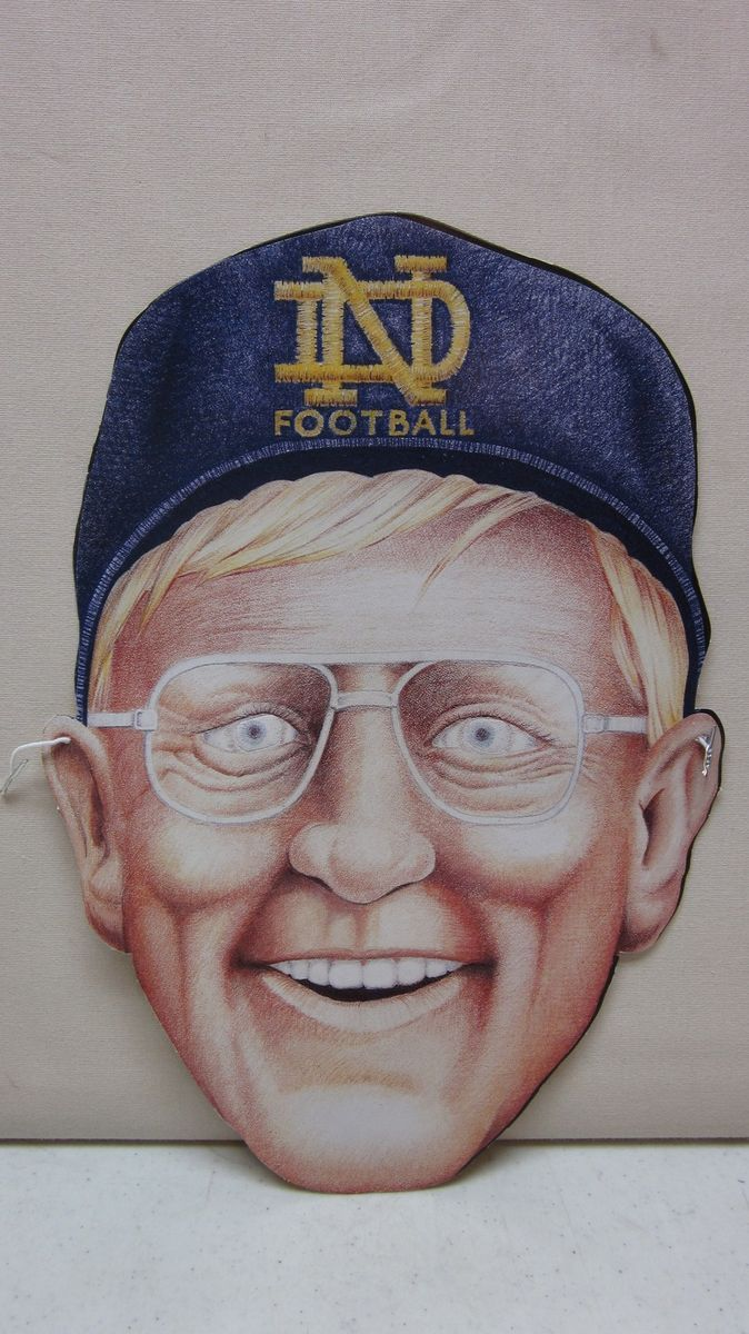 Unpunched Football Coach Lou Holtz Notre Dame Fighting Irish Mask FREE