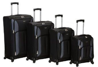 Rockland Luggage Impact Spinner 4 Piece Luggage Set