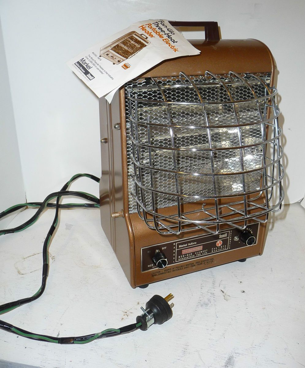 Markel Fan Glo Heetaire 198TS 3 Heat Portable Electric Heater 5118BTU
