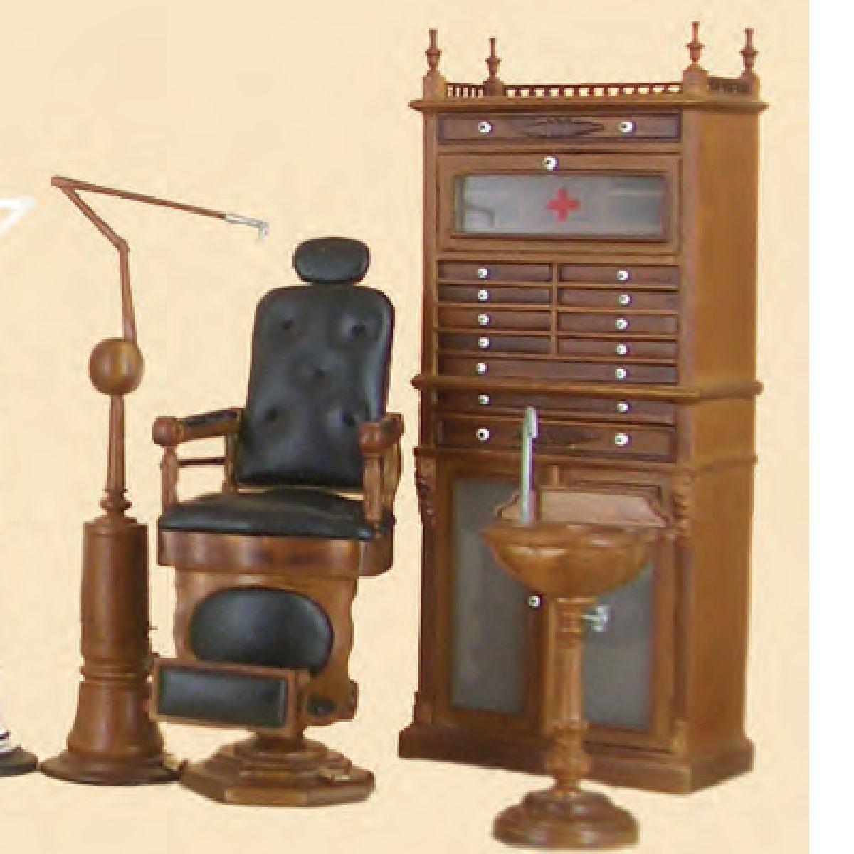 Miniature Furniture Doctor Dentist Dental Medical Office Set