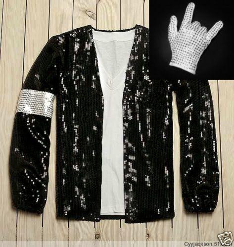 Michael Jackson MJ Crystal Billie Jean Jacket Glove