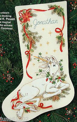 Dimensions CHRISTMAS UNICORN Crewel Stitchery Stocking Kit