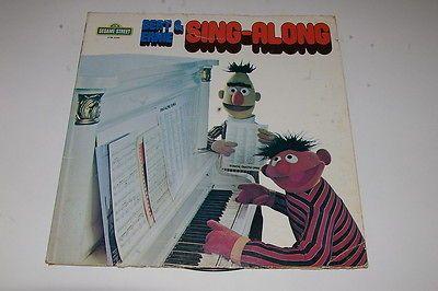 SESAME STREET BERT & ERNIE SING ALONG   33rpm CTW 22068 LP 1975
