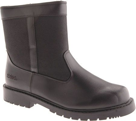 Totes STADIUM Mens Waterproof Insulated Side Zip Winter Snow Boot