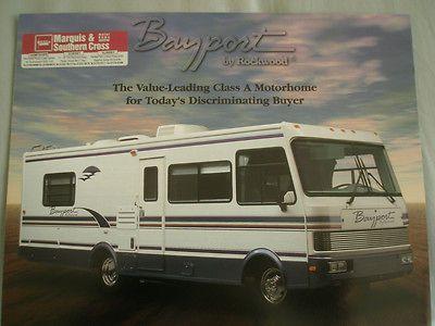 Rockwood Bayport Motorhomes brochure 1994