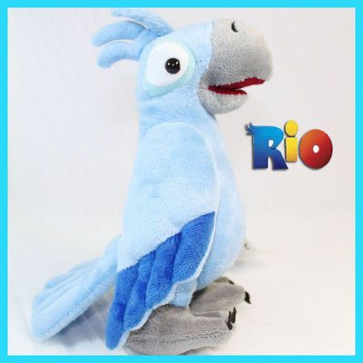 Figure Blu Character Soft Plush Toy Macaw Parrot Blue Bird Teddy Doll