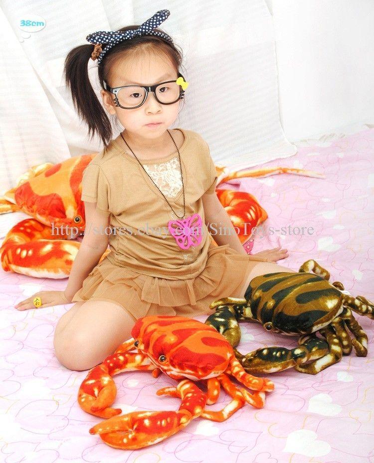 38cm Cute Sea Crab Shaped Stuffed & Plush Animal Doll Toy Pillow
