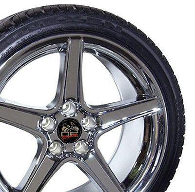 18 9/10 Chrome Saleen Style Wheels Nexen Tires Rims Fit Mustang® GT