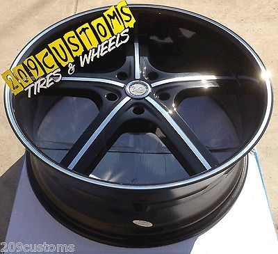 BLACK WHEELS TIRES RIMS 5X139.7 DODGE DURANGO 2005 2006 2007 2008