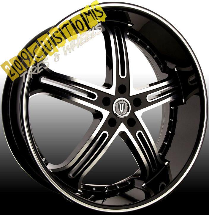 VERSANTE RIMS WHEELS TIRES VW226 BLACK 24X9 5 5X120 RANGE ROVER 2011