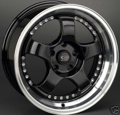 18 Rota D2 Black Rims Wheels Tires Honda S2000 S2K Staggered Hankook