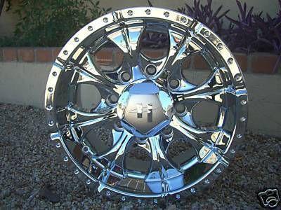 16 Inch Helo Maxx CHROME WHEELS Rims Chevy GMC Jimmy Toyota Tacoma