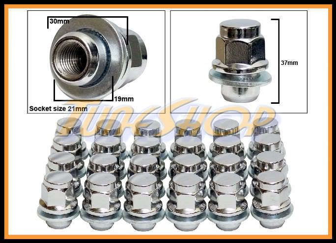 Stock Factory Wheels Rims Mag Lug Nuts 12x1 5 1 5 21 Hex Chrome