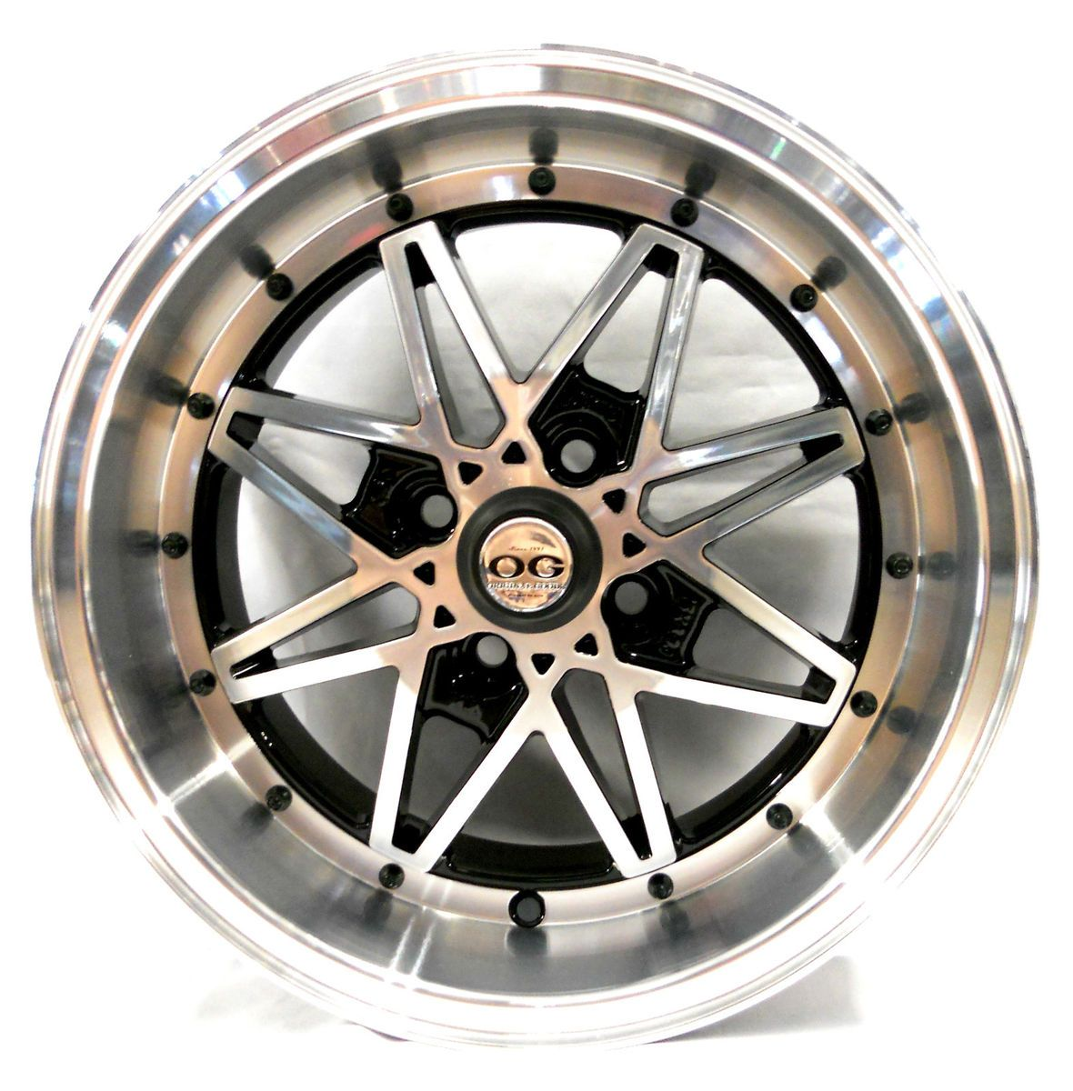 Axis OG Oldschool Black Machined Face Wheel Rim s 4x100 25 4pcs
