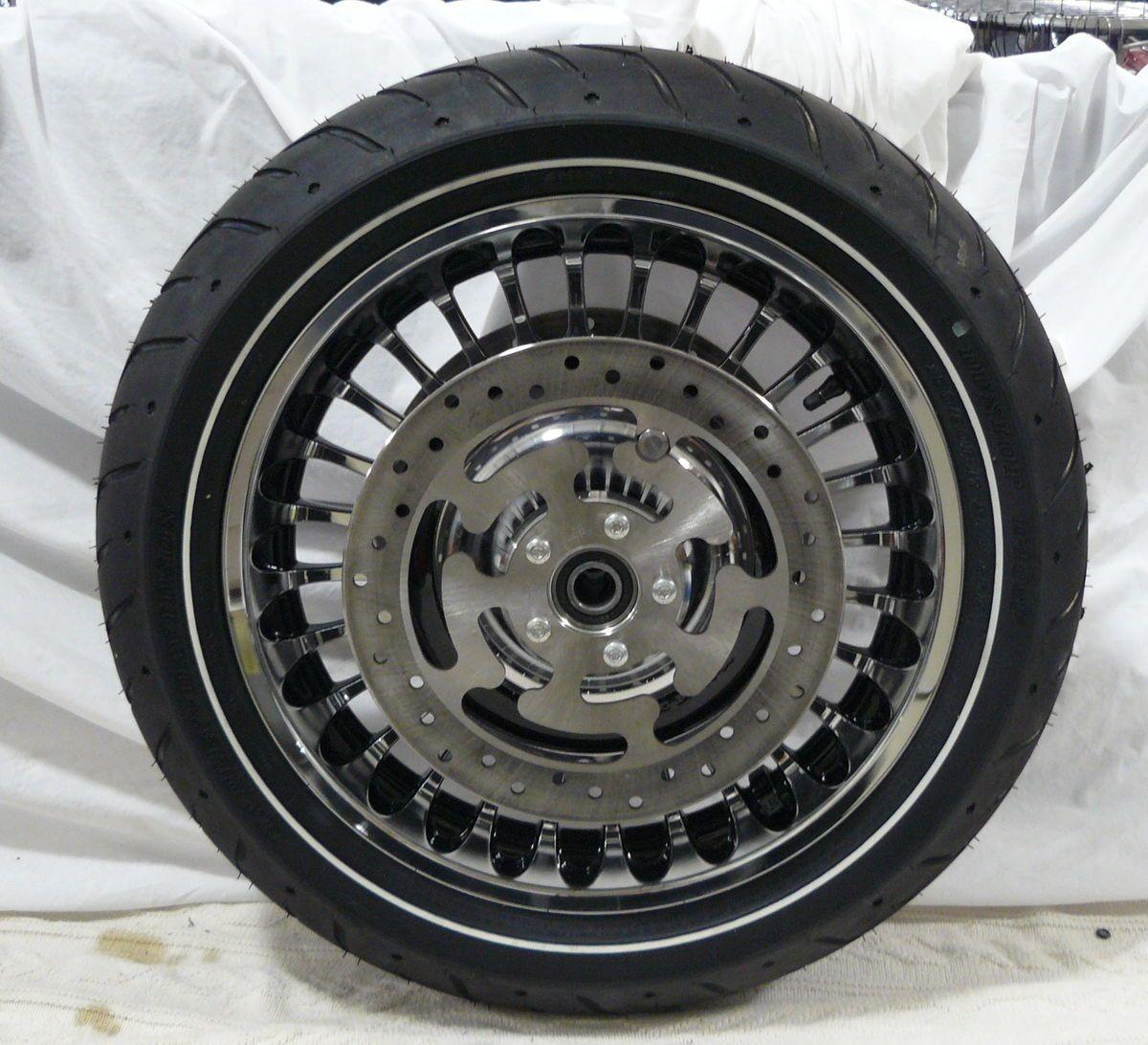 Harley Davidson Touring 28 Spoke Chrome Wheels Tires Stock Take Offs
