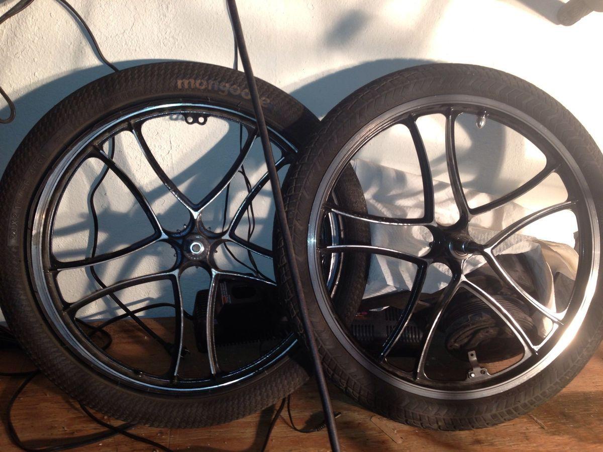 Mongoose BMX Mags Rims Wheels Metal Free Wheel