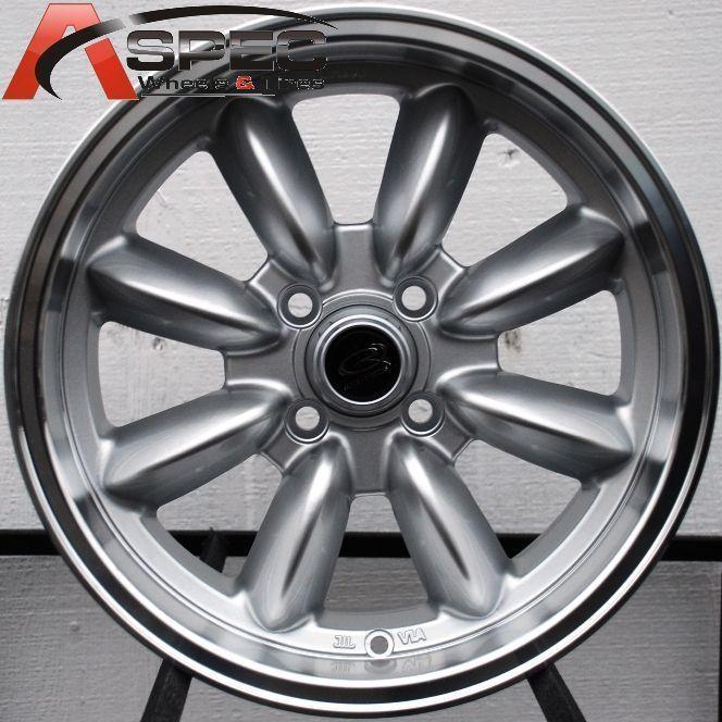Rota RB 15x7 4x108 ET30 73 1 Royal Silver Rims Wheels