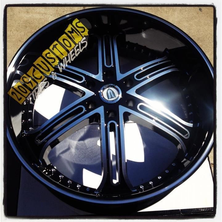 26 inch Versante Rims Wheels Tires VW226 Black 6x135 Ford F150 2004