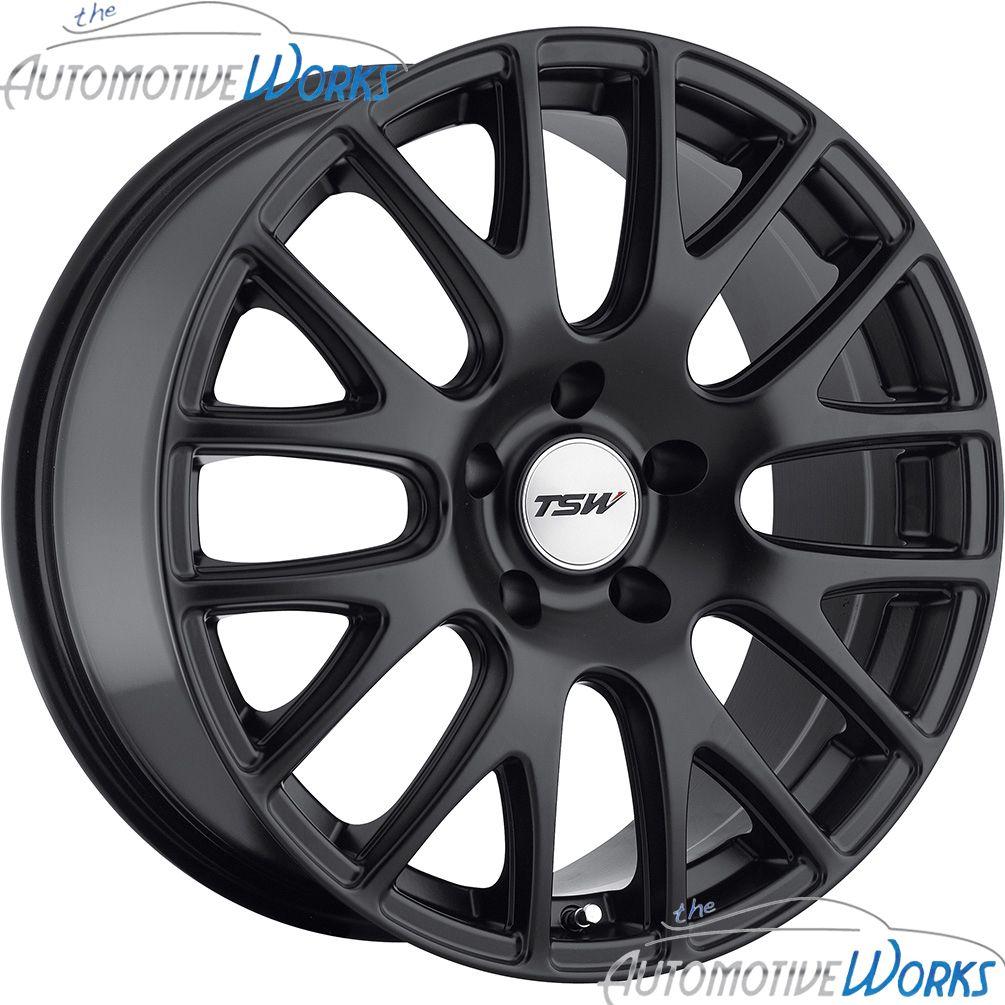 17x8 TSW Mugello 5x110 40mm Matte Black Rims Wheels inch 17