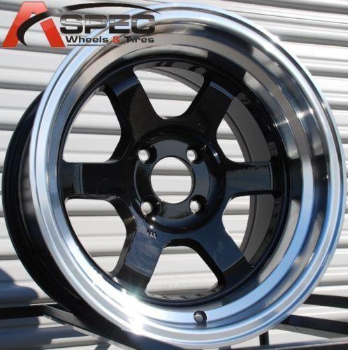 Rota Grid V Classic 15x8 4x100 ET0 Royal Black Wheels