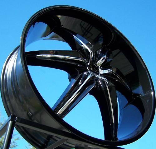26 Black Helo 866 Wheels Rims Tahoe Escalade Silverado Ford F 150