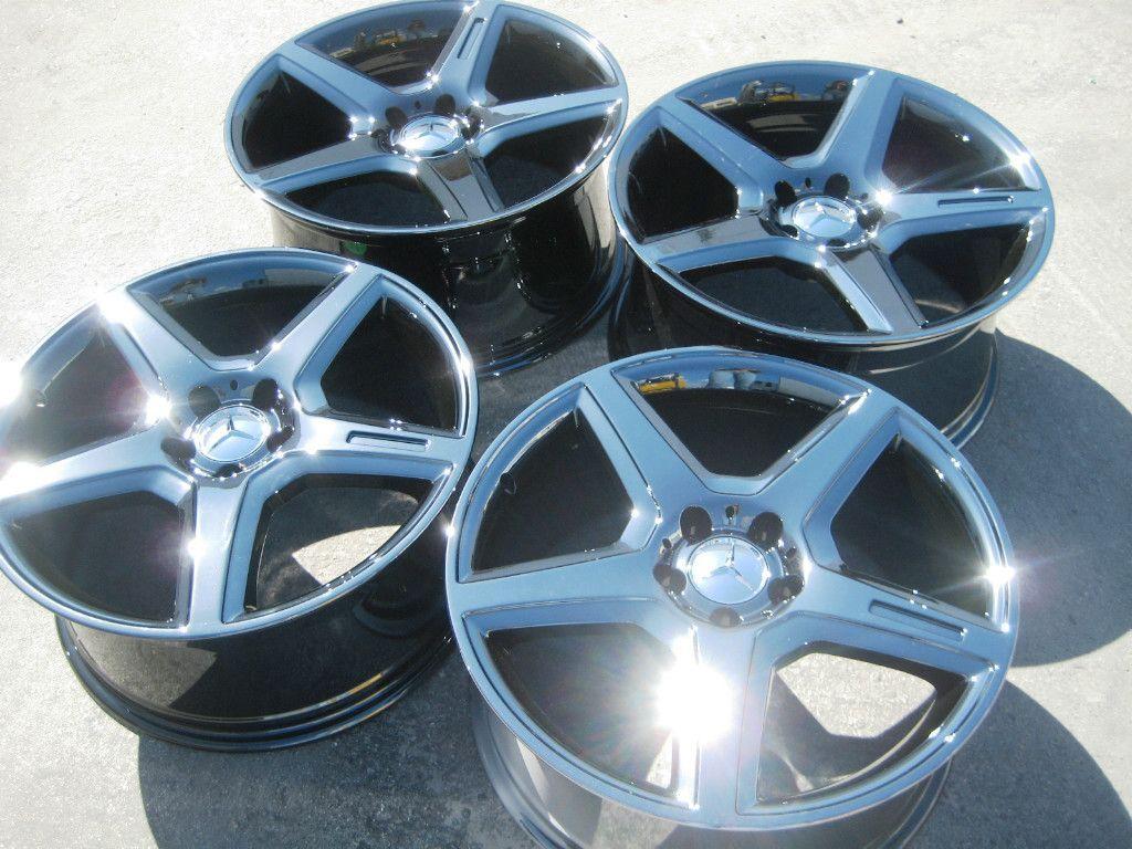 AMG E55 CL500 SL550 CLS55 CLS500 CLS63 Black Chrome Wheels Rims