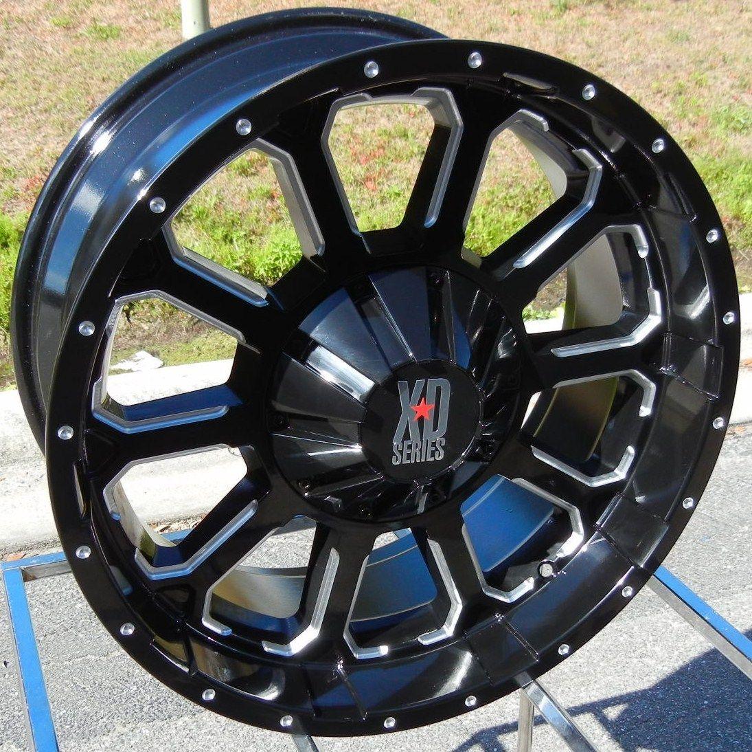 20x9 Black XD Bomb Wheels Rims GMC Sierra Chevy Silverado Tahoe 1500