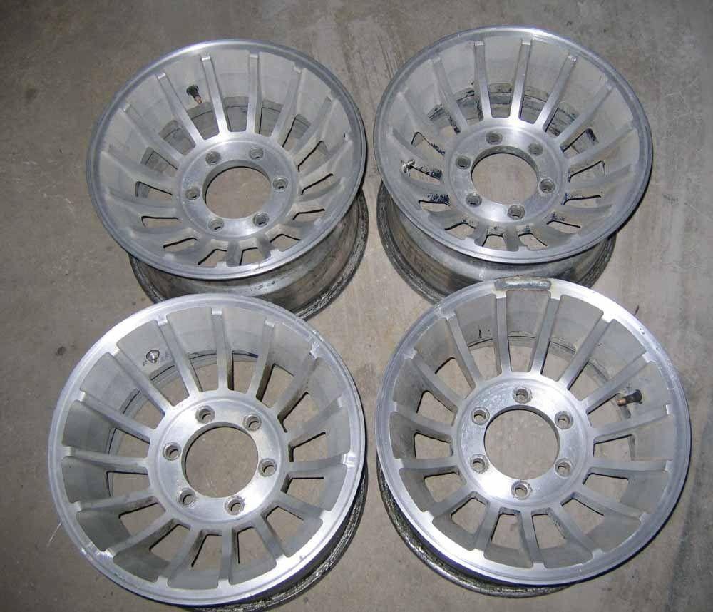 VTG Chevy Truck Turbine Wheels 15 X 8.5 Rims 6 Lug 4X4 1/2 Ton & fits