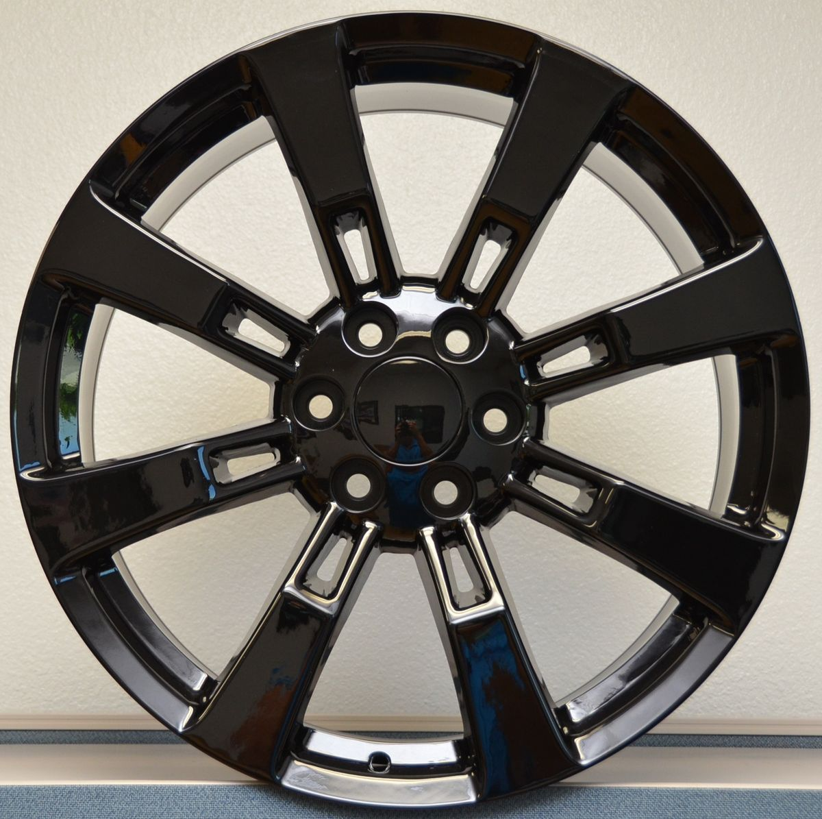 Denali Escalade Sierra Yukon Tahoe Wheels Rims Set Gloss Black