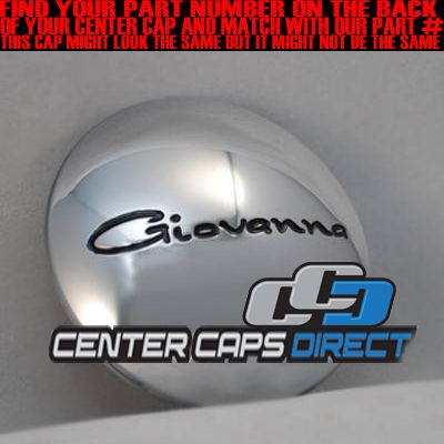 509K67 GFGK67 509K67 Giovanna Wheels Chrome Center Cap