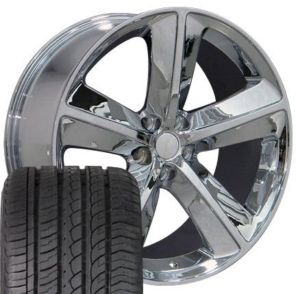 20 Chrome Rims Fit Dodge Challenger SRT Set of 4 Wheels Tires