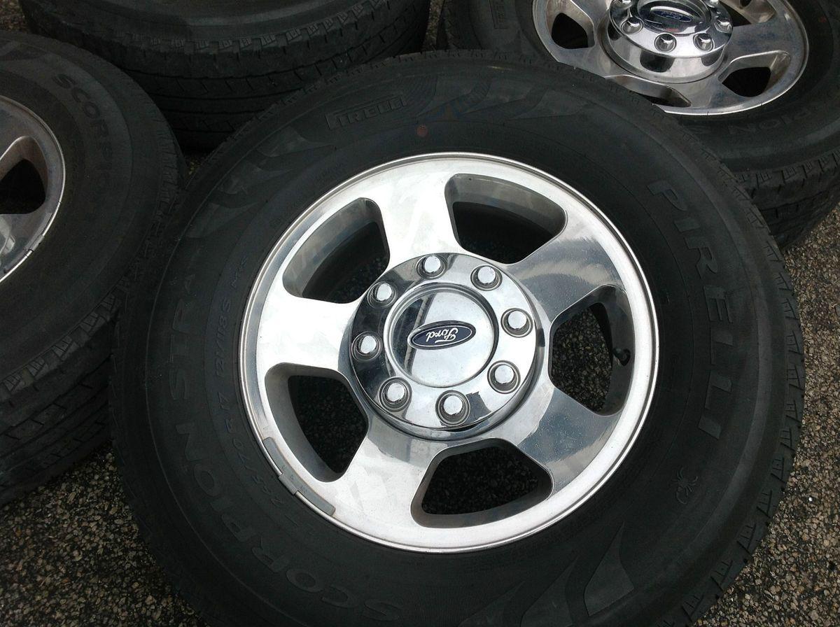 Ford F 250 Wheels Tires Rims Pirelli F250 265 70 17 Alloy Aluminum