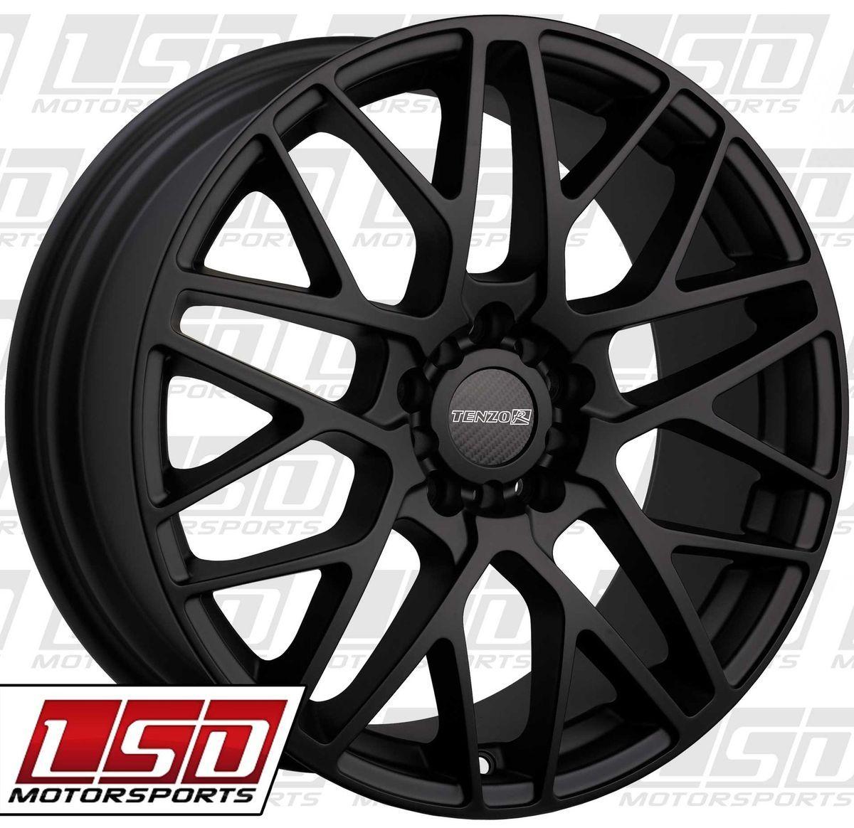 19 Tenzo R C10 Black Rims Wheels Nissan 350Z Infiniti G35 Coupe Ford