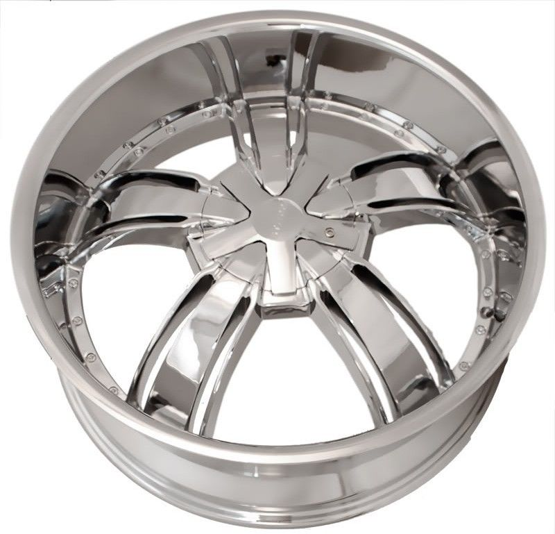22 Starr 720 Chrome Wheels Rims Tires Pkg 5x115 Chevy Chrysler